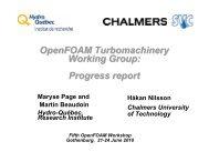 OpenFOAM Turbomachinery Working Group: Progress report