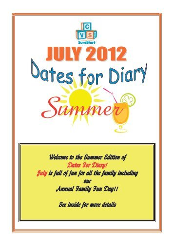 Welcome to the Summer Edition of Dates For Diary ... - Early Years