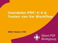 Voordelen PDF/X-4 & Testen van Uw Workflow - Ghent Workgroup