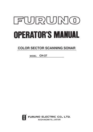 COLOR SECTOR SCANNING SONAR - Furuno