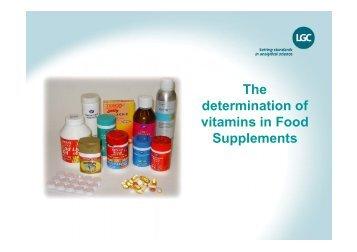 Vitamins Analysis