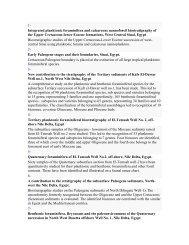 1- Integrated planktonic foraminifera and calcareous nannofossil ...
