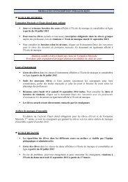 MODALITES D'INSCRIPTION PEDAGOGIQUE ... - Tournefeuille