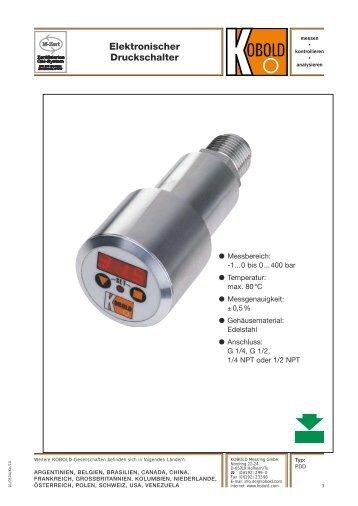 Elektronischer Druckschalter - Kobold Messring GmbH