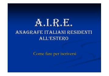 iscrizione Aire in slovacchia - Ambasciata d'Italia a Berlino