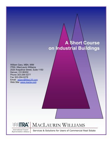 A Short Course On Industrial Buildings - MacLaurin Williams ...