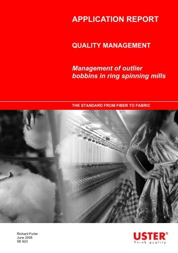 Management of outlier bobbins in ring spinning mills - Uster ...