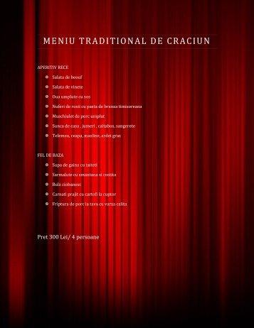 MENIU TRADITIONAL DE CRACIUN