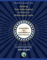 Getting Your Information to Voters Brochure