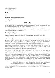 1 Den 20. juni 2011 blev i sag nr. 31/2010 K ApS ... - Revisornævnet