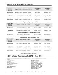 2013-2014 Academic Calendar and Tuition Refund Schedule