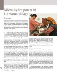 Micro-hydro power in Udmaroo village - Leisa India