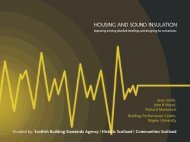 HOUSING AND SOUND INSULATION