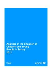 Analysis of the Situation of Children and Young People in Turkey 2012