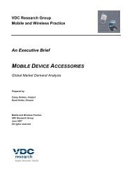 MOBILE DEVICE ACCESSORIES - VDC Research