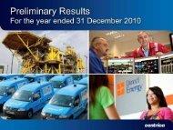 Download the 2010 preliminary results Slide presentation ... - Centrica