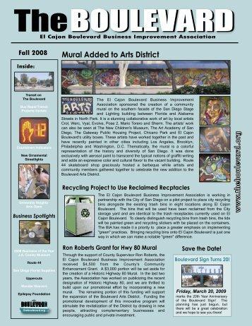 FALL 08 - El Cajon Boulevard Business Improvement District