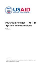 PARPA II Review—The Tax System in Mozambique - UNICEF ...