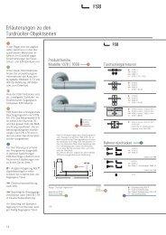 Erläuterungen zu den Türdrücker-Objektseiten