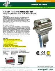 Rotech Rotary Shaft Encoder - 4B