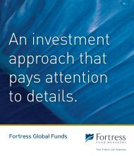 Fortress Global Funds - Fortress Fund Managers