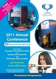 2011 Annual Conference - The Nutrition Society