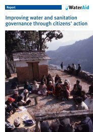 Improving water and sanitation governance through ... - WaterAid