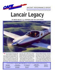 Lancair Legacy - CAFE Foundation