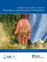 A Market Facilitator's Guide to Participatory Agroenterprise ...