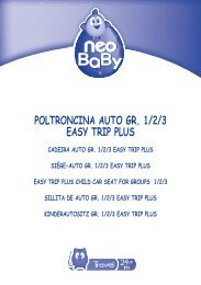 POLTRONCINA AUTO GR. 1/2/3 EASY TRIP PLUS - Neo Baby