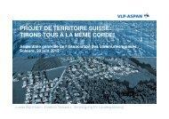 PROJET DE TERRITOIRE SUISSE: TIRONS TOUS À LA MÊME ...
