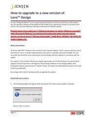 How to upgrade to Lava Design 7.3 - Jensen Dental