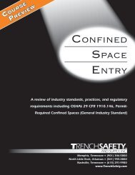 Confined SpaCe entry - Trench Safety