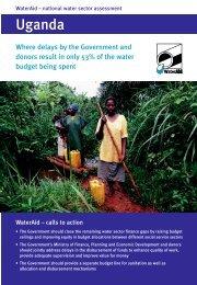 National water sector assessment in Uganda - WaterAid