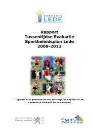 Rapport Tussentijdse Evaluatie Sportbeleidsplan ... - Gemeente Lede