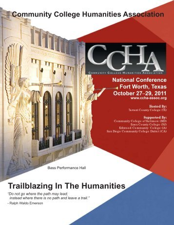 Trailblazing In The Humanities - Community College Humanities ...