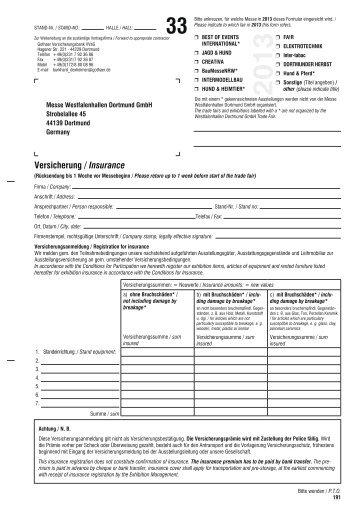33 Versicherung / Insurance - Westfalenhallen