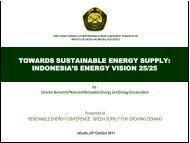 towards sustainable energy supply: indonesia's energy