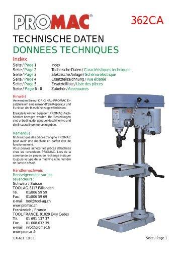 Tischbohrmaschine Promac 362 CA - UrsusMajor