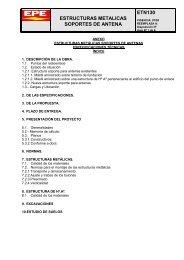 ESTRUCTURAS METALICAS SOPORTES DE ANTENA ETN130 - Epe