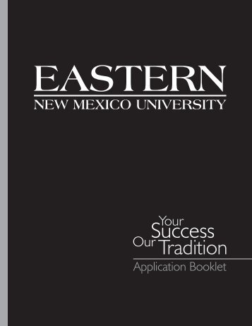 download an application - Eastern New Mexico University