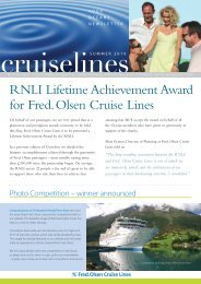top points - Fred Olsen Cruises