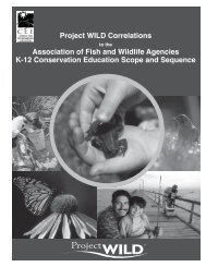 (AFWA) K-12 Conservation Education Scope and ... - Project Wild