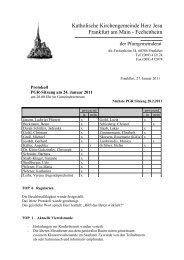 Protokoll der PGR-Sitzung am 24. Januar 2011 - Herz Jesu ...