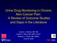 A Systematic Review of Urine Drug Monitoring in - Tufts Health Care ...