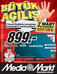 Yüksek fiyatlarla savaşmaya Ankara'da 5. kardeş ... - Media Markt