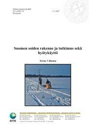 Suomen soiden rakenne ja tutkimus sekä hyötykäyttö - Arkisto.gsf.fi