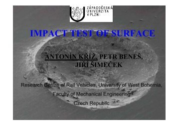 IMPACT TEST OF SURFACE - TUKE