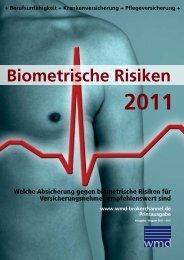 Biometrische Risiken 2011 - WMD Verlag GmbH