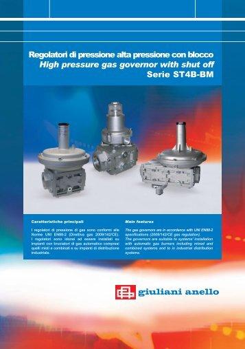 Regolatori di pressione alta pressione con blocco ... - Watts Industries